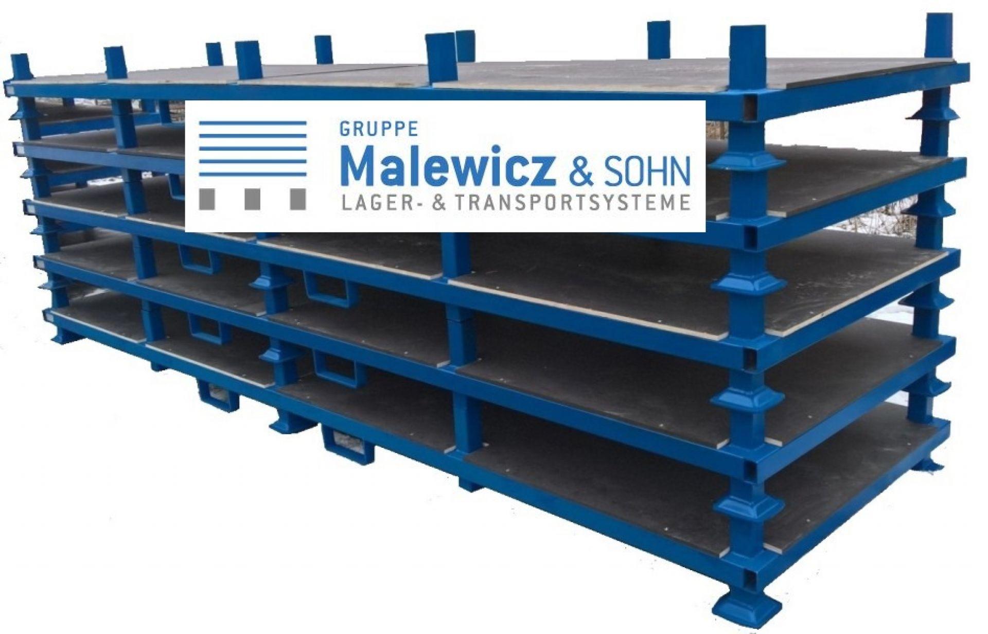 Langgutgestelle mit Siebdruckplatte