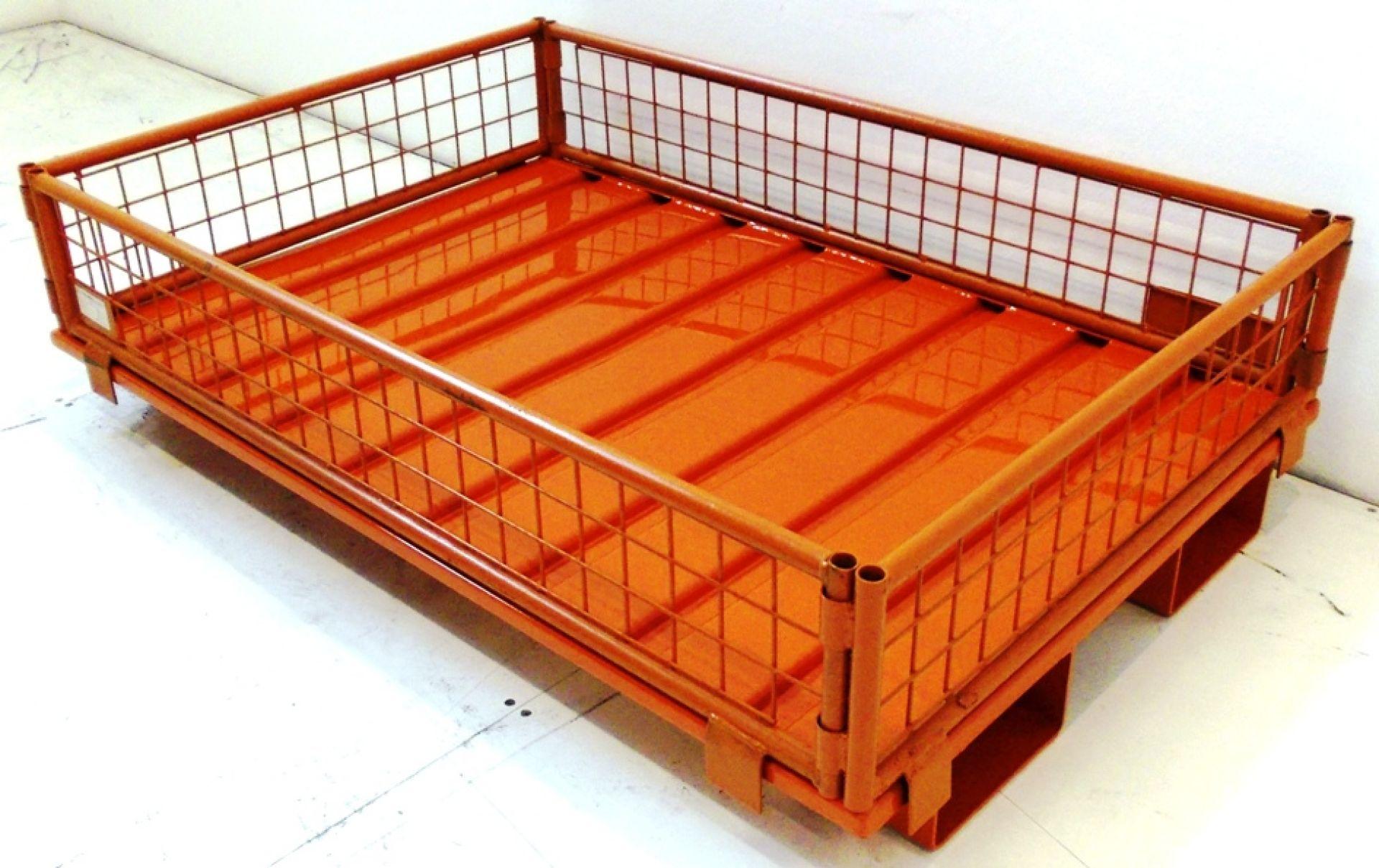 Stahlpalette für diagonalfaltbaren Gitteraufsatzrahmen