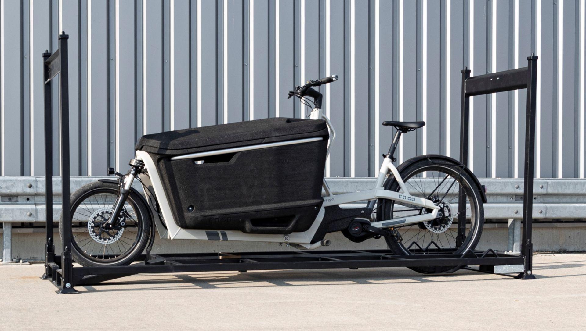 Transportgestell für Elektro-Lasten-Fahrrad