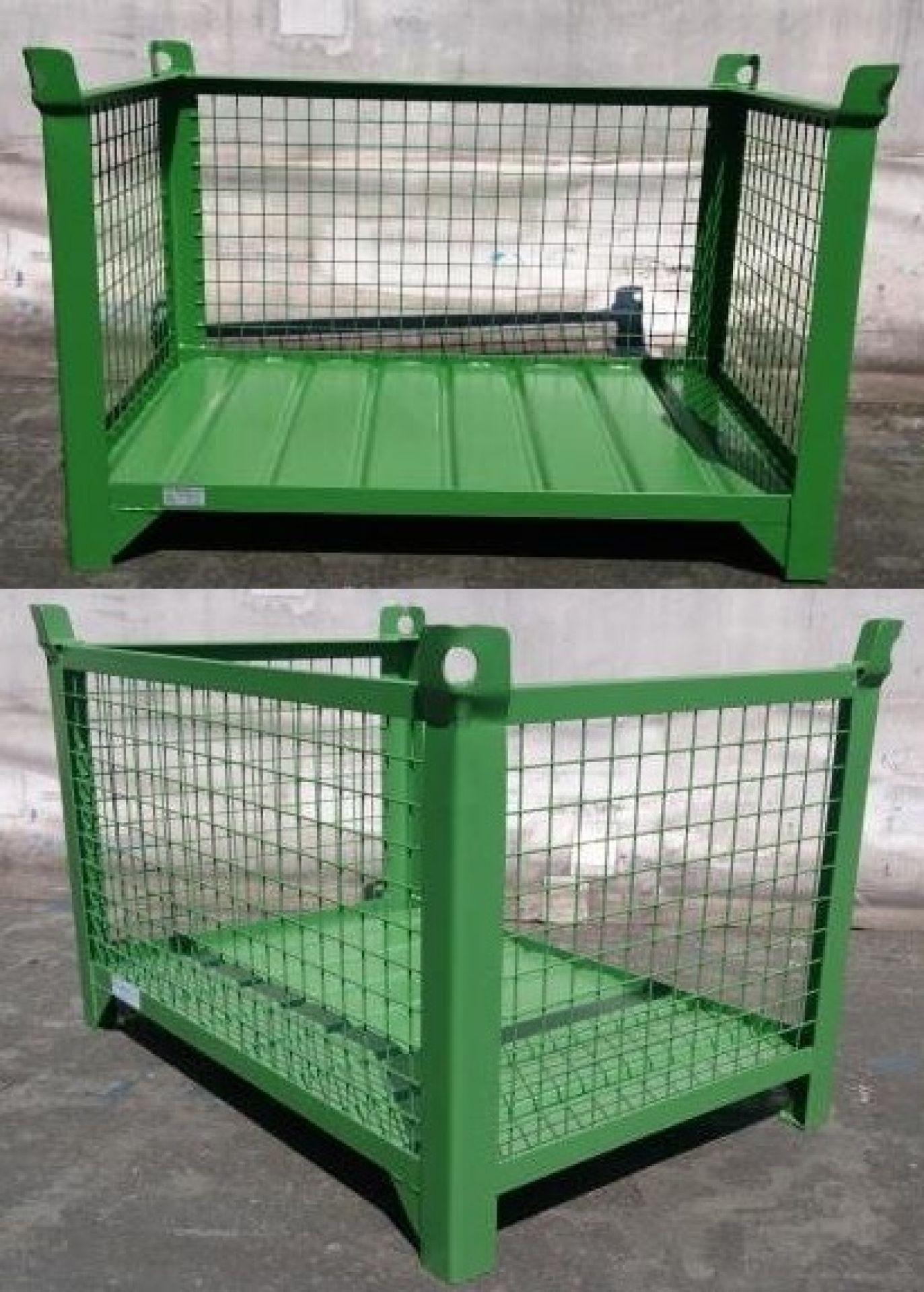 Gitterbehälter mit offener Langseite