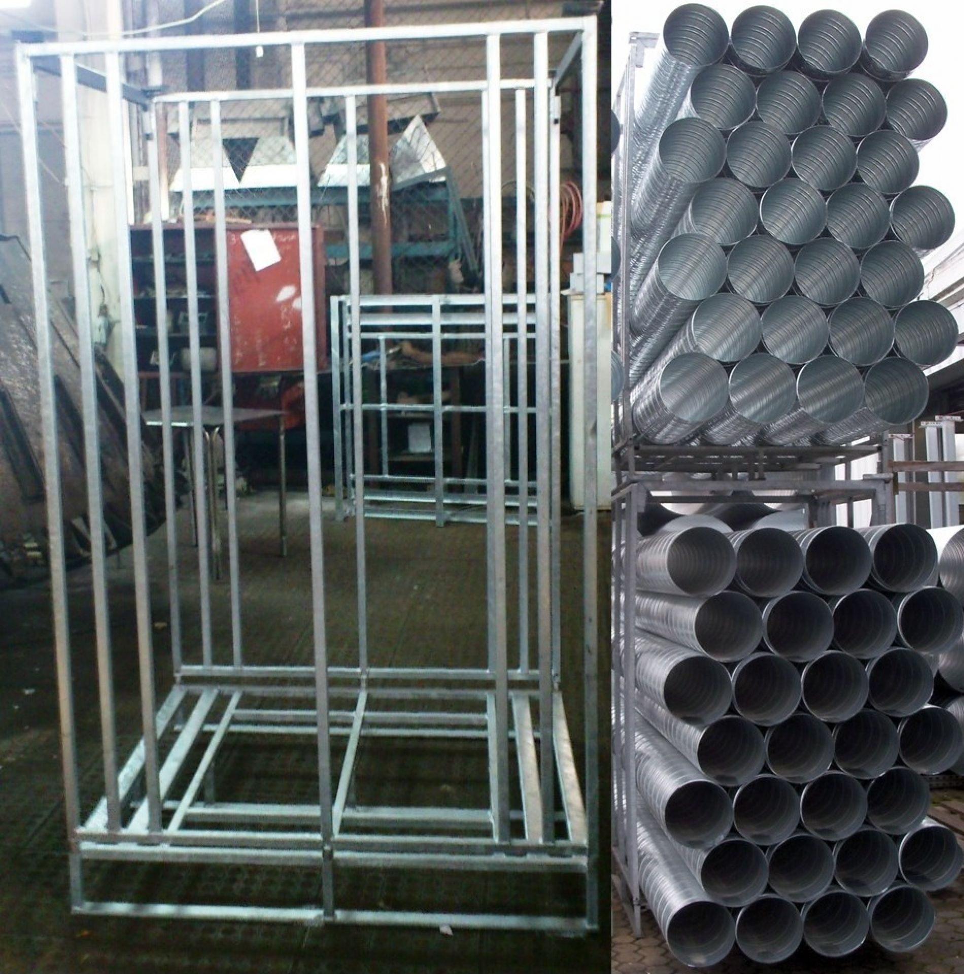 Lagergestell für Alu - Rohre