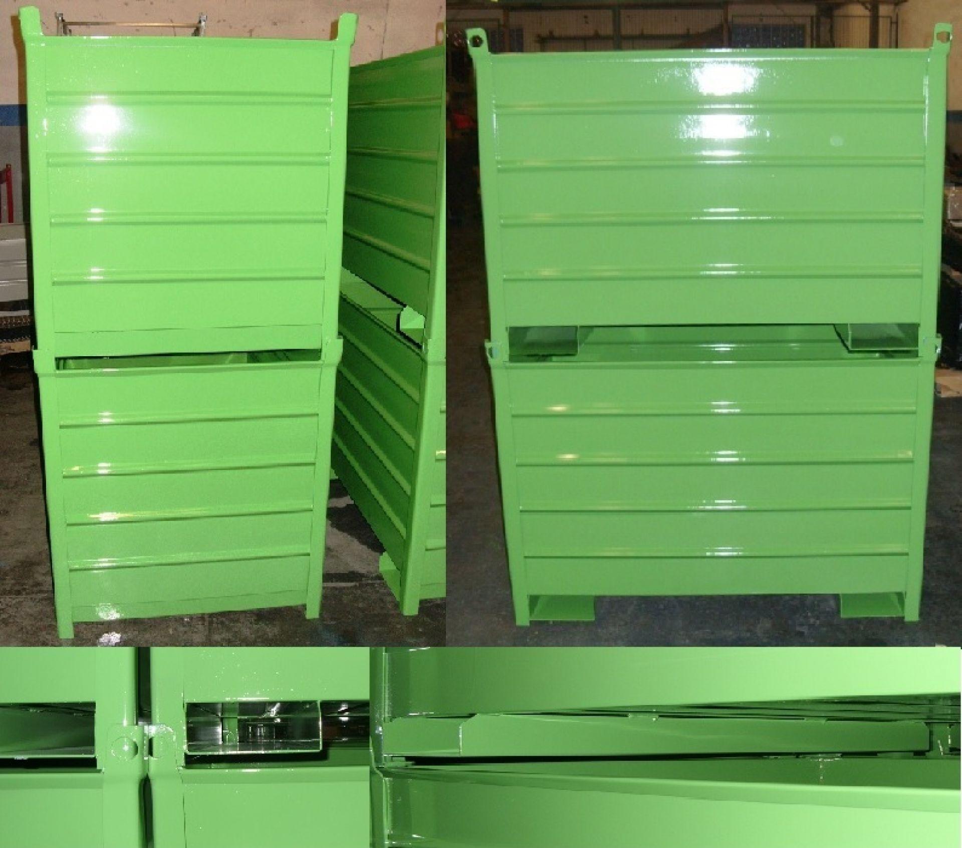 Behälter mit Einfahrkanälen für Drehstapler