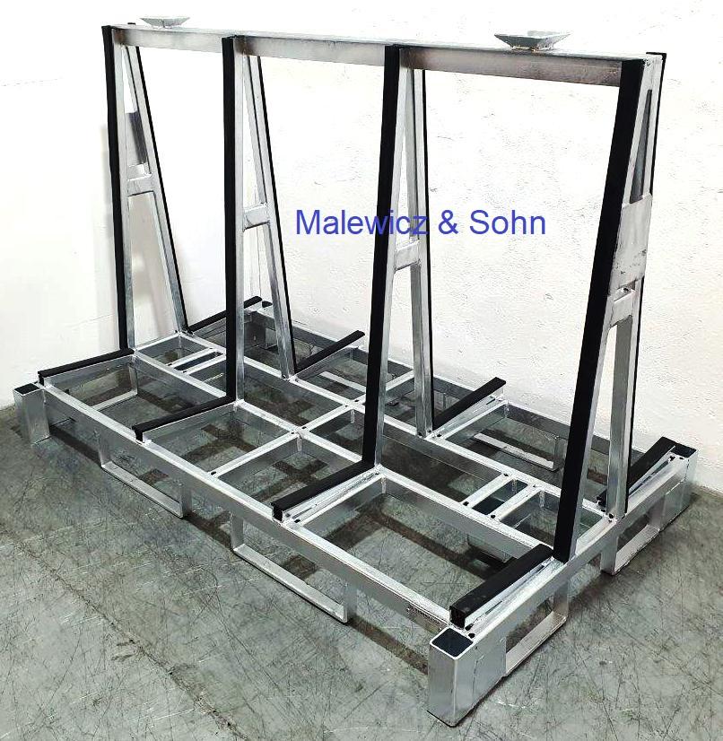 Glastransportgestell  A-Form stapelbar