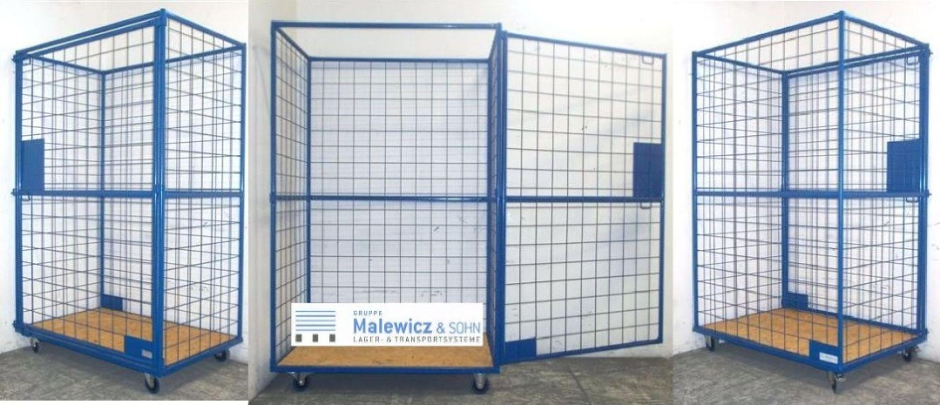 Gitterrollbehälter mit Tür