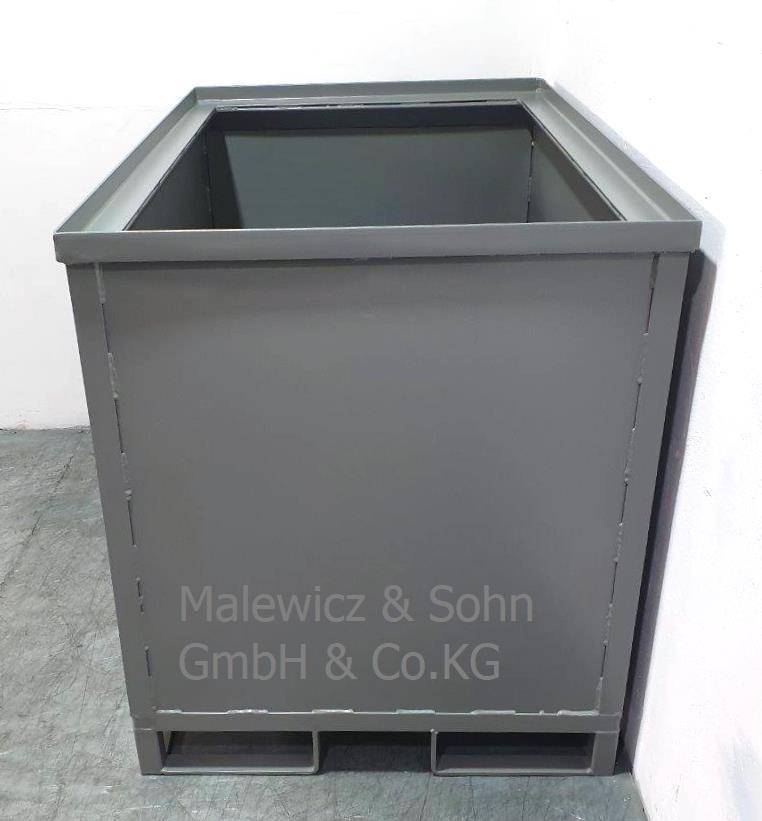 Abfallbehälter mit Schüttrand