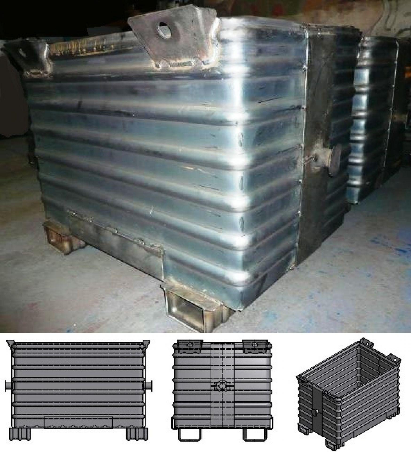 Recyclingbehälter für Metallschrott