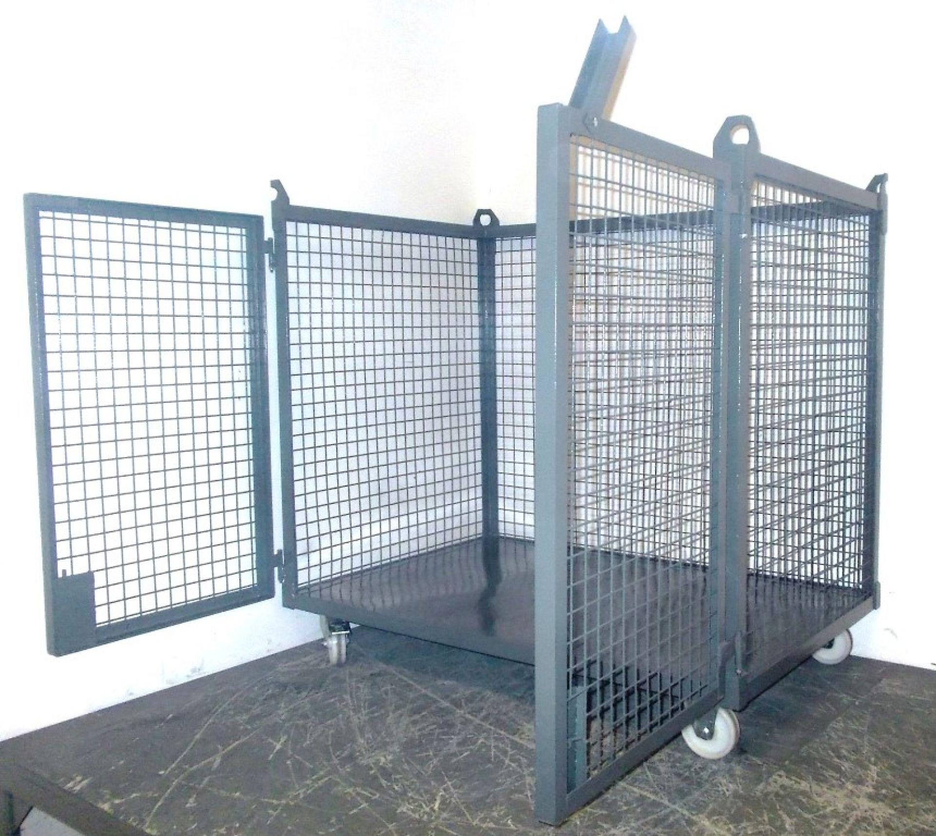 kranbarer Gitterrollwagen mit Türen