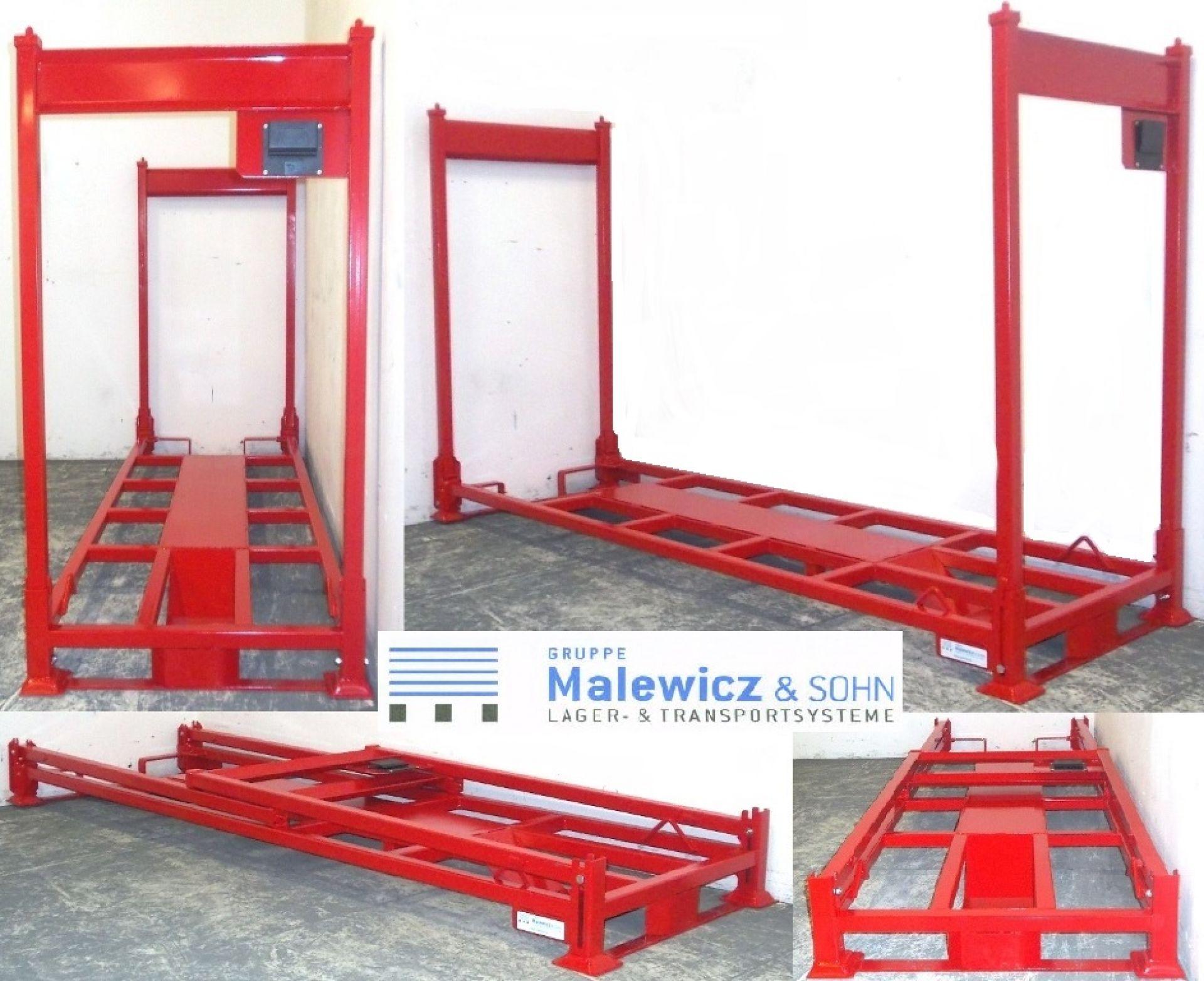 Transportgestell für Motorrad rot