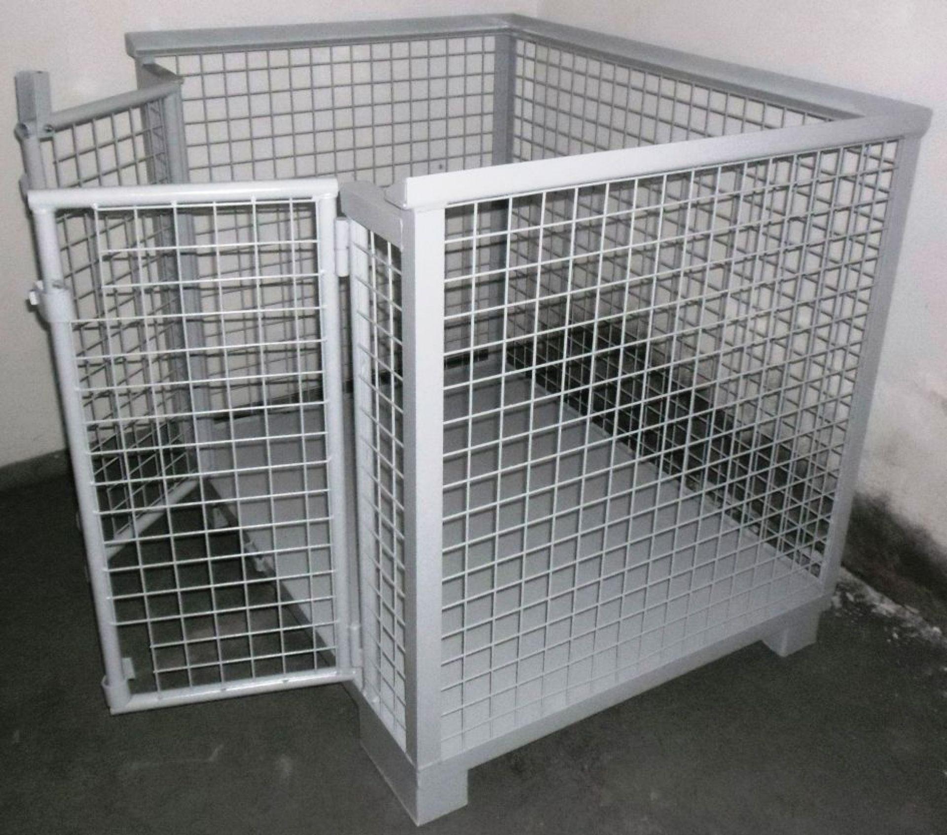 Gitterbox mit 2flügliger Tür