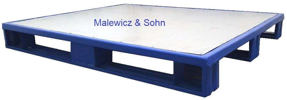 Stahlpalette mit glatter Deckfläche 01