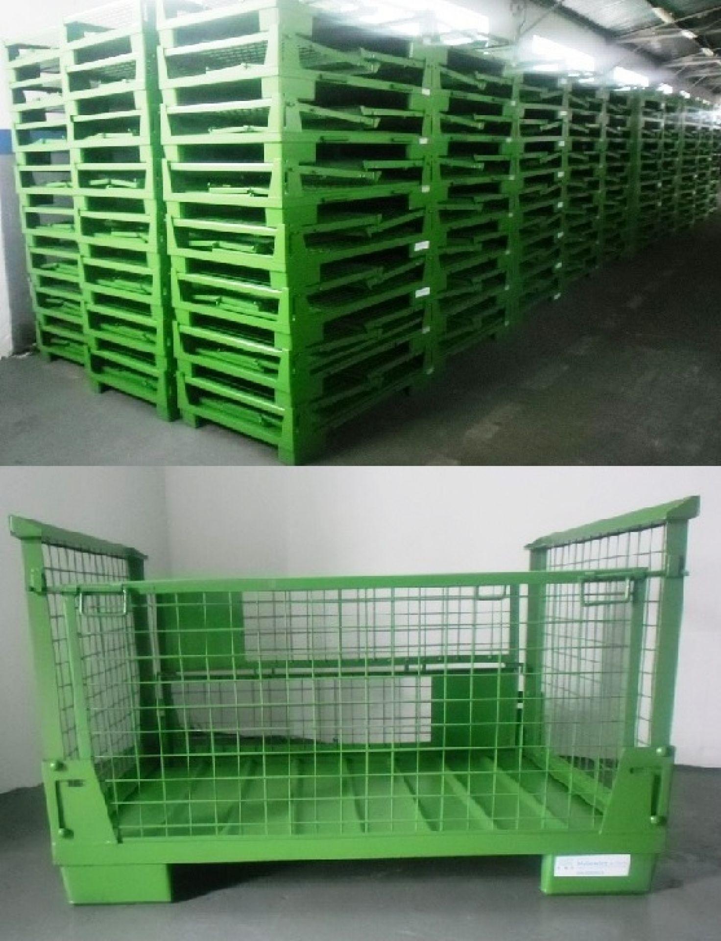 Faltbare Gitterboxen mit halber Klappe
