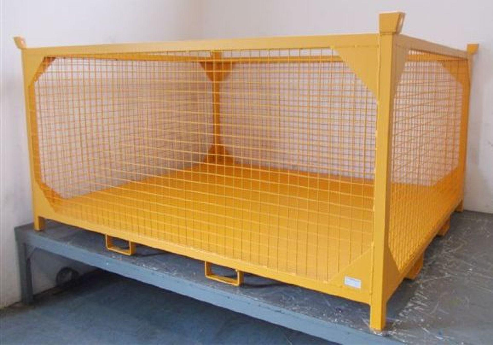 Gitterbehälter kranbar für Baustelle