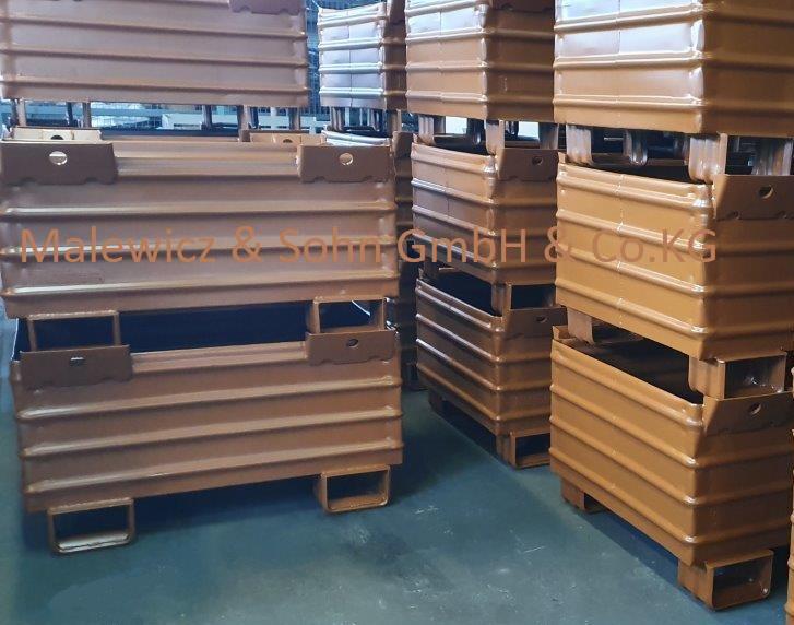 Recyclingbehälter für Drehkippstapler