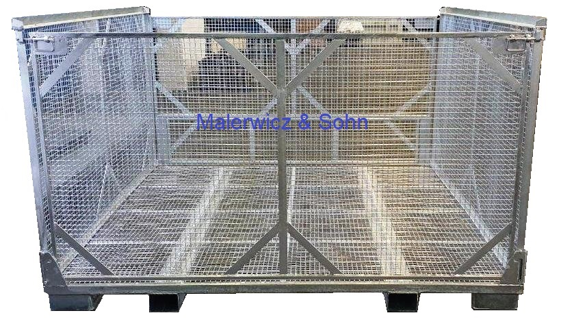faltbarer Gitterbehälter für Leergut