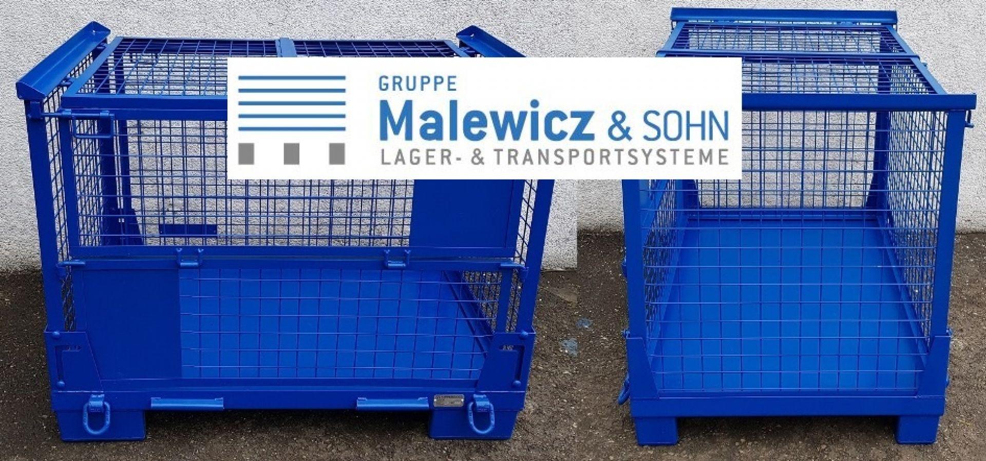 faltbare Gitterboxen mit Deckel kranbare Ausführung