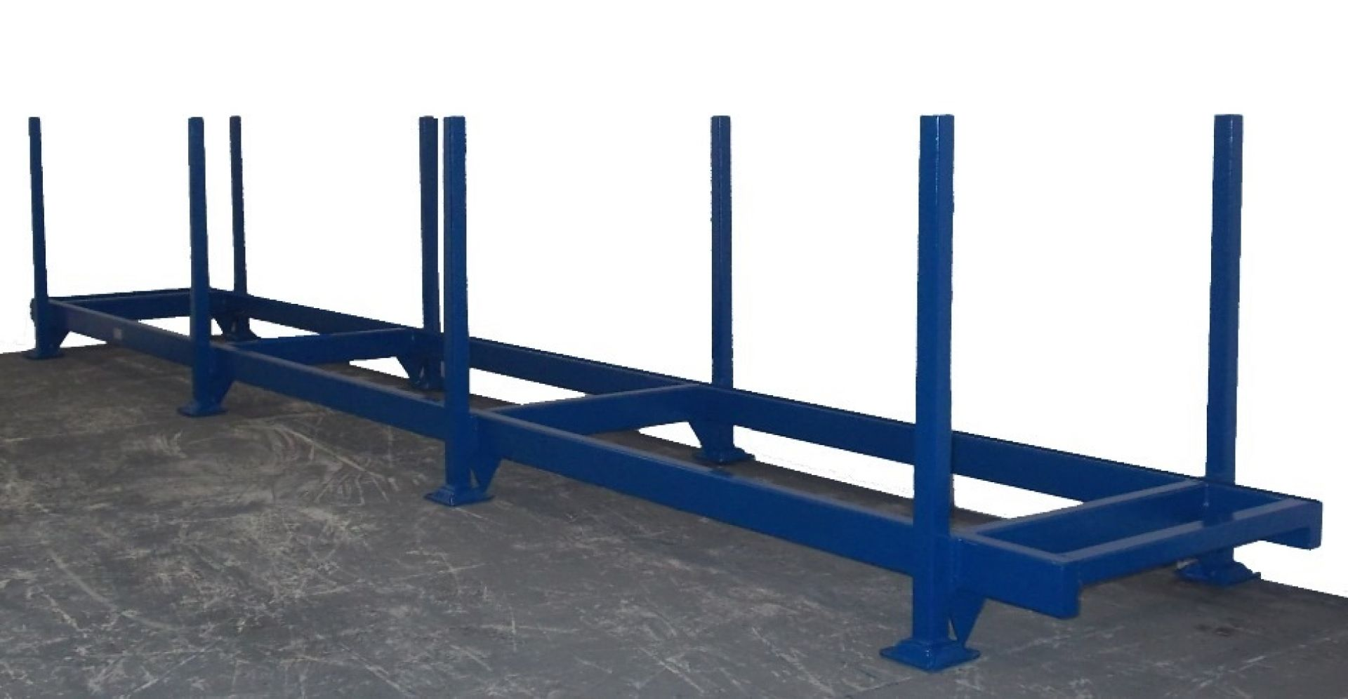Langgutpalette 4,5 m blau lackiert
