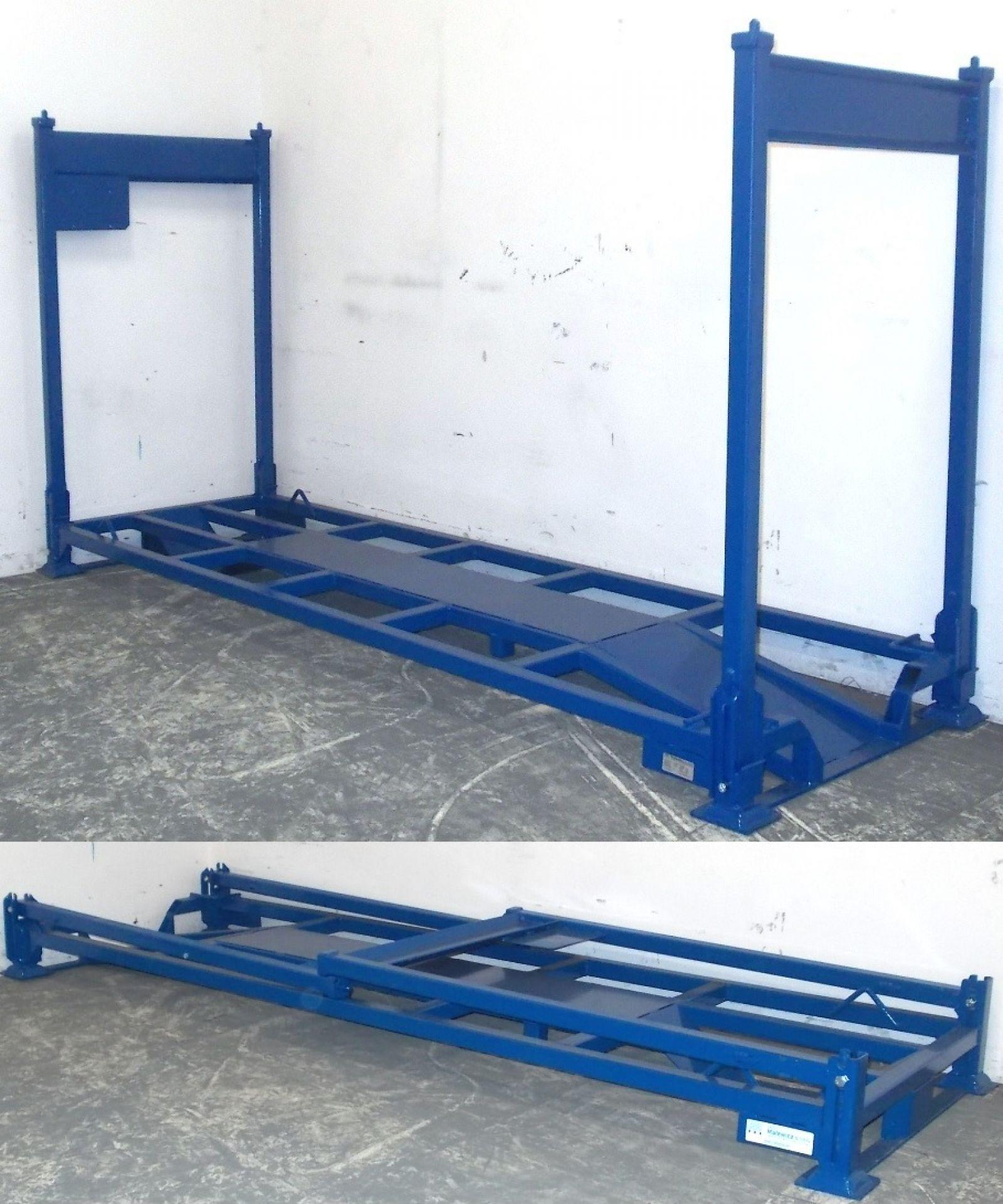 Motorradtransportgestell Standard blau