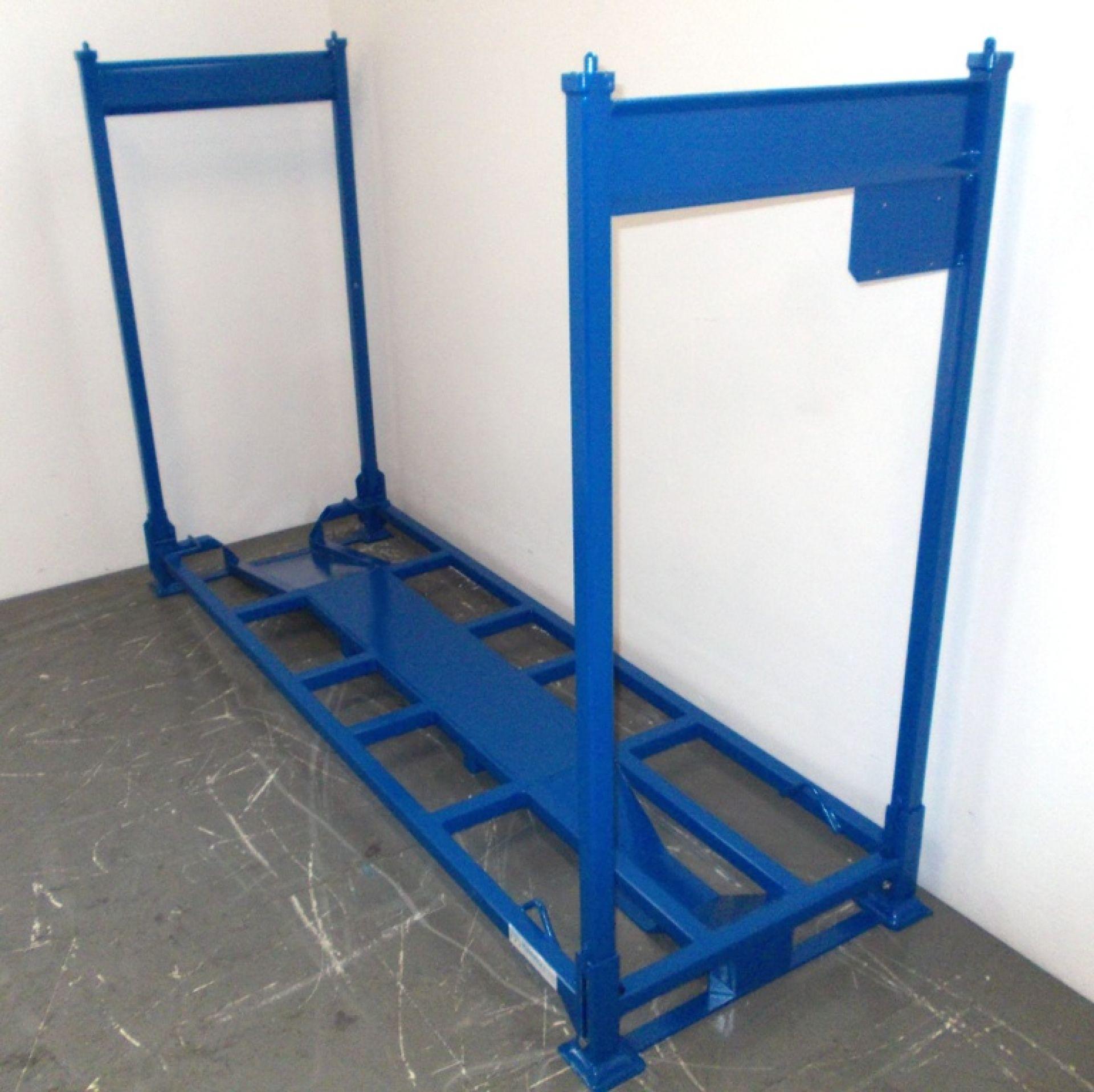 Motorradtransportgestell blau Höhe 1300