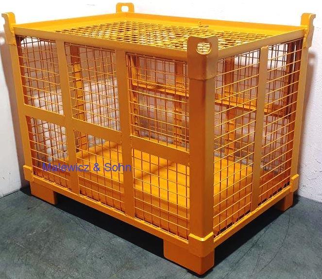 Gitterboxen kranbar mit Deckel für Baustelle