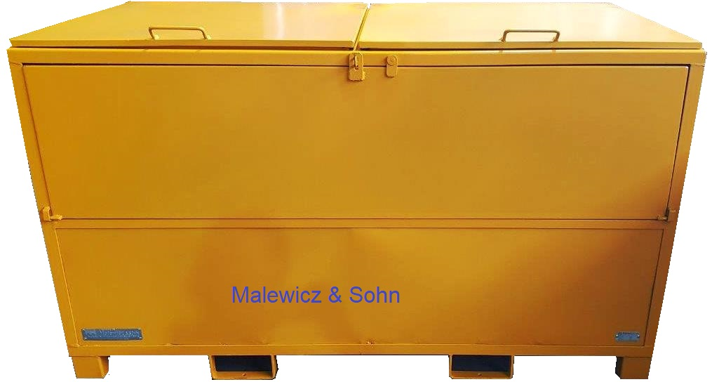 Recyclingbehälter mit 2teiligem Deckel und Klappe