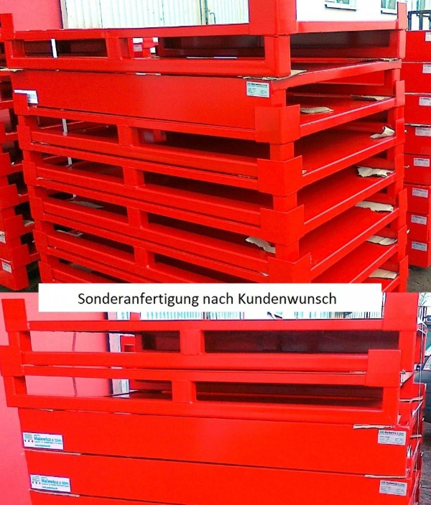 Stahlflachpalette rot in Sonderausführung