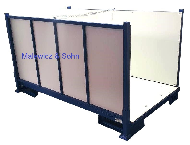 Textilbehälter 2000 klappbar mit Holzauskleidung