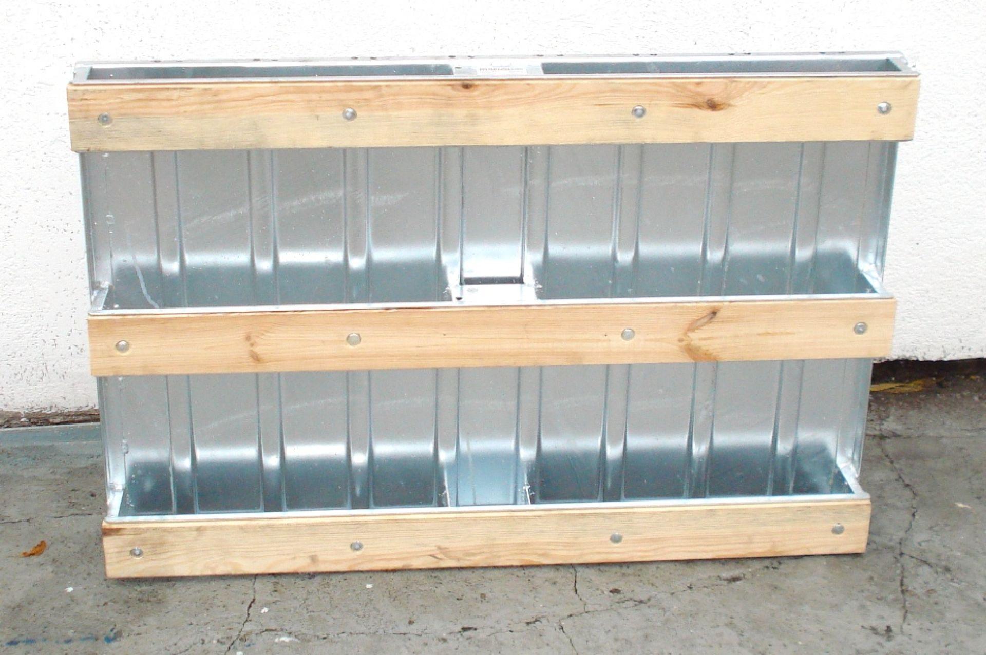 Stahlblechpalette mit Holzkufen