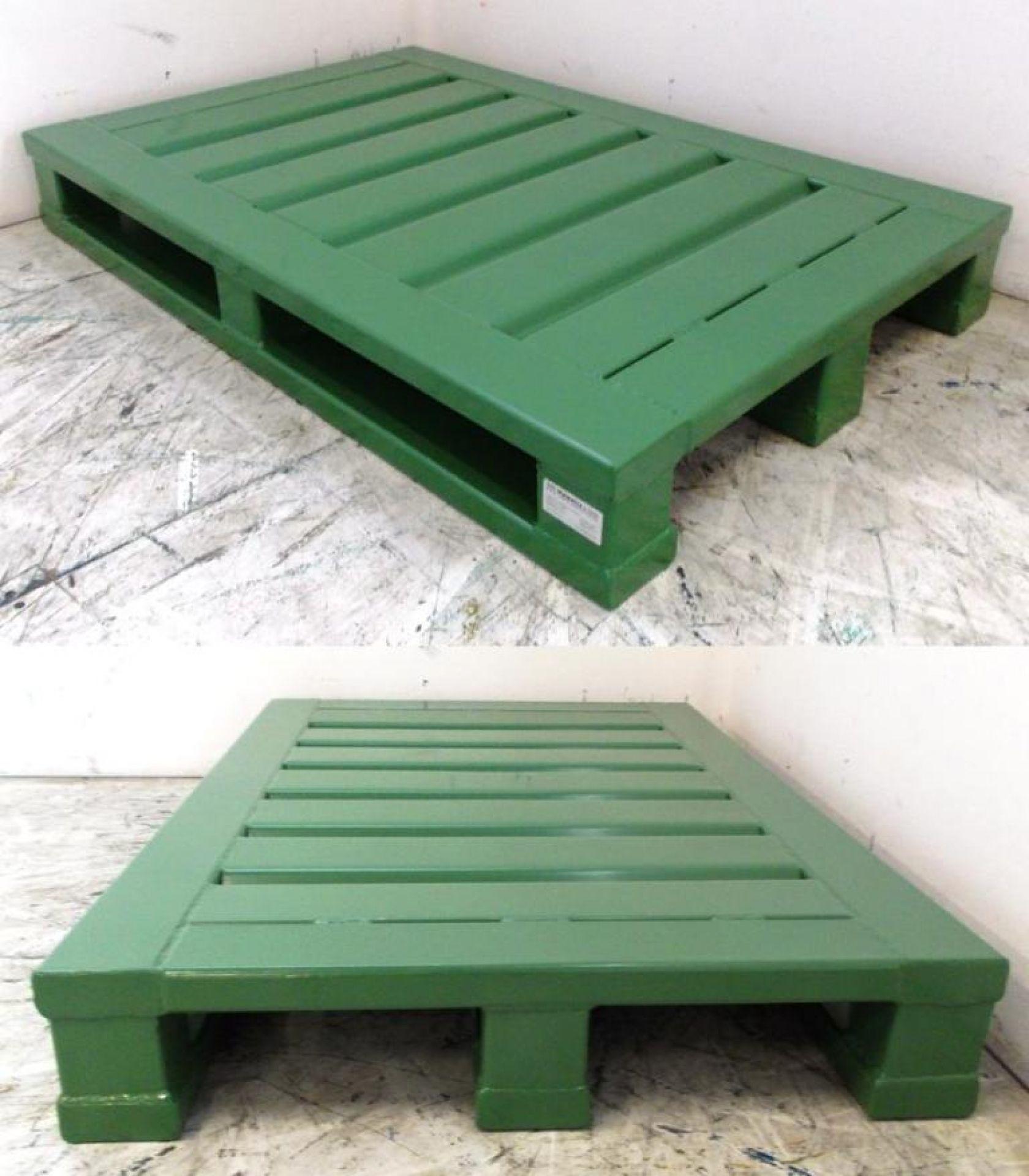 Schwerlastpalette lackiert grün