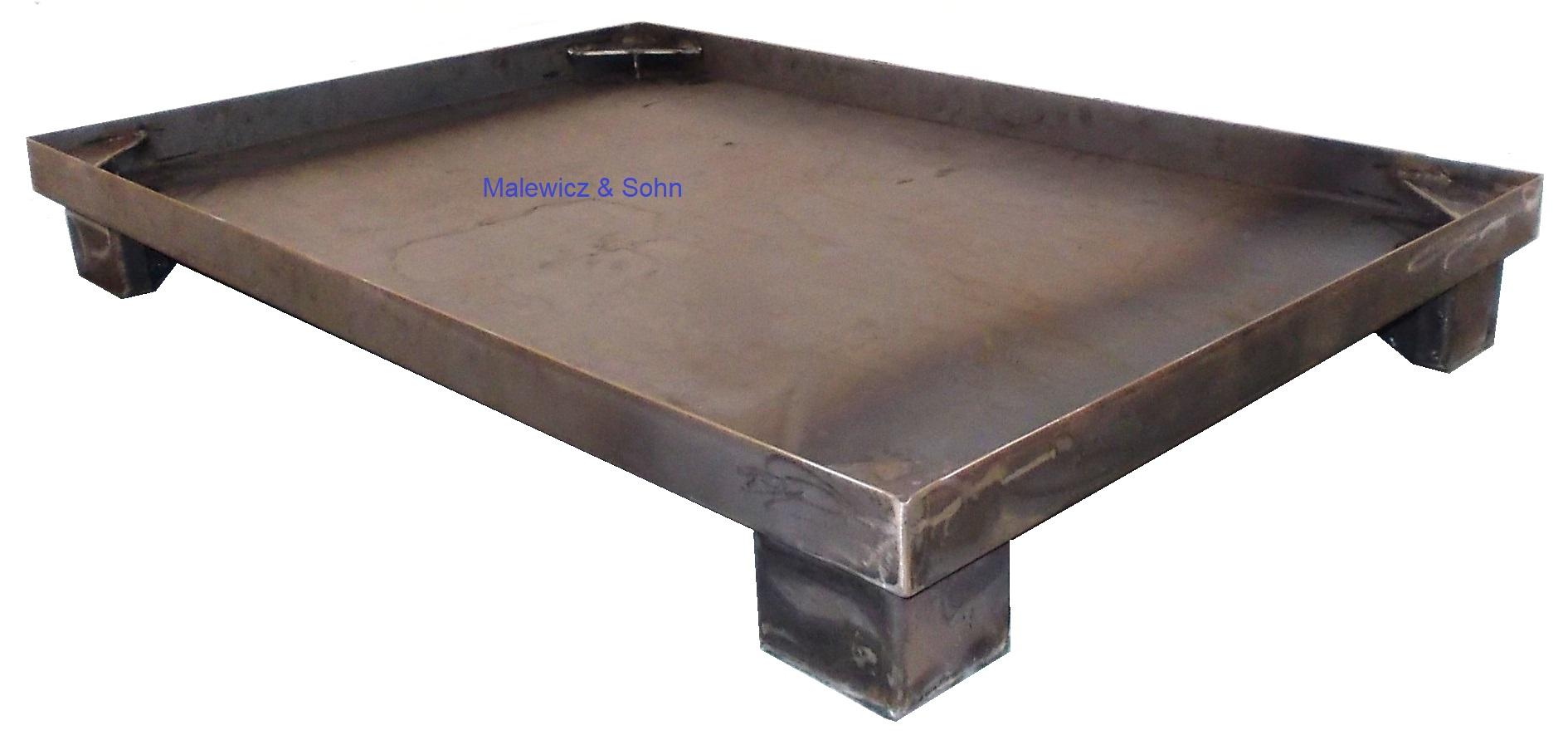 Stahlpalette mit Rand öl und wasserdicht