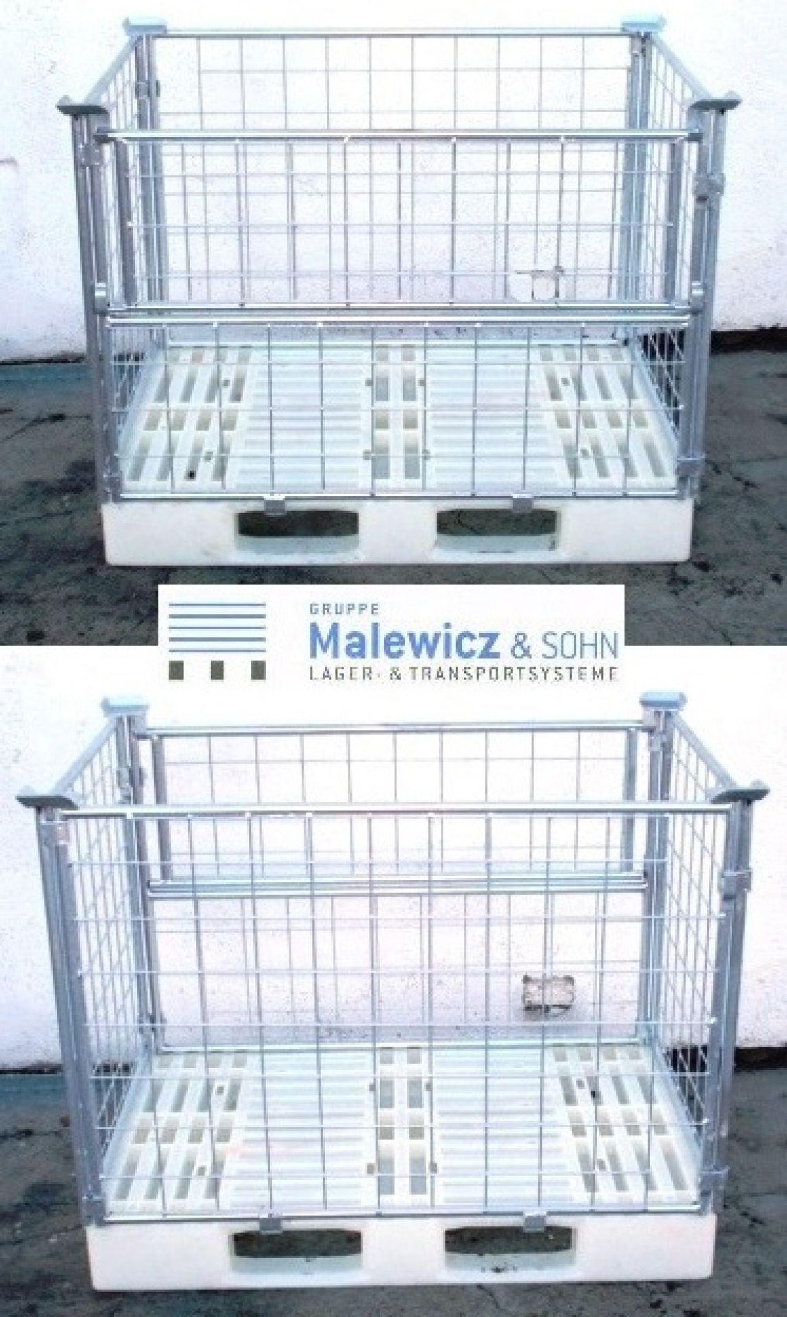 Gitteraufsatzrahmen für Kunststoffpalette