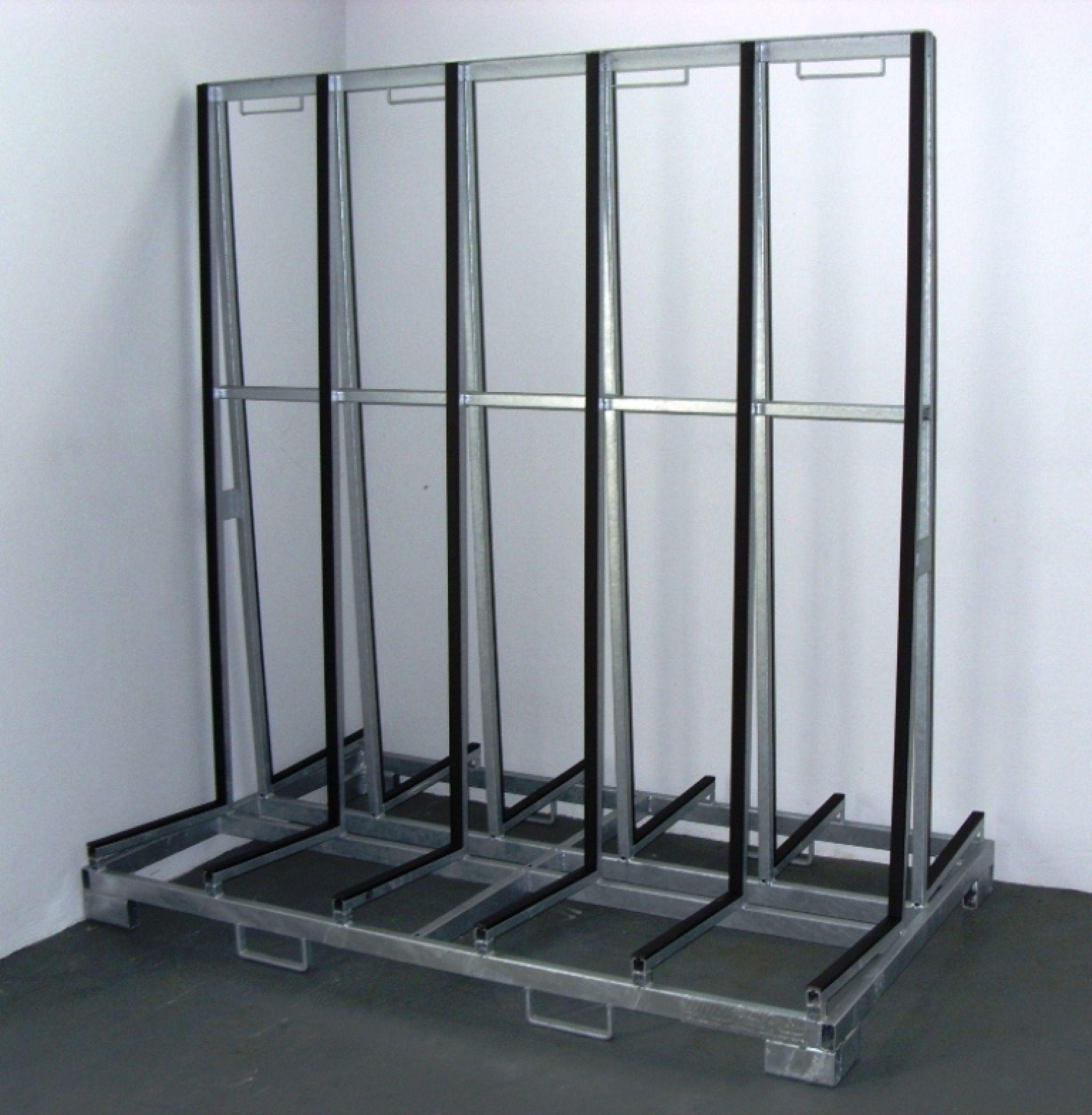 Glasgestelle Typ A für zweiseitige Beladung