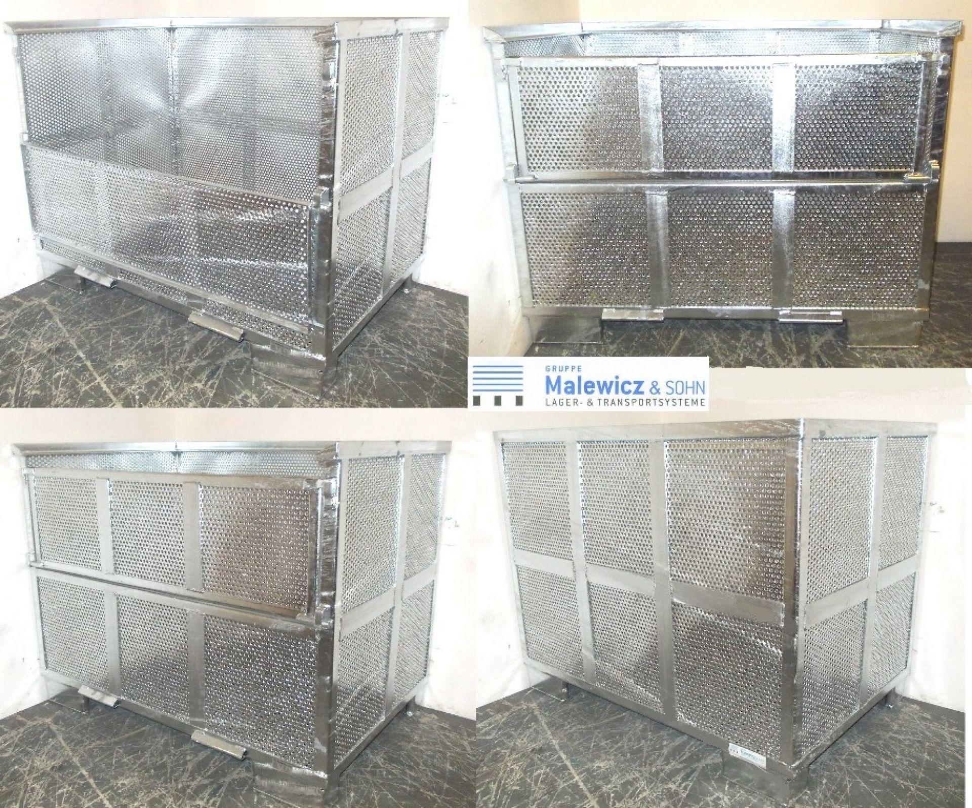 Waschgitterbox mit Lochblech