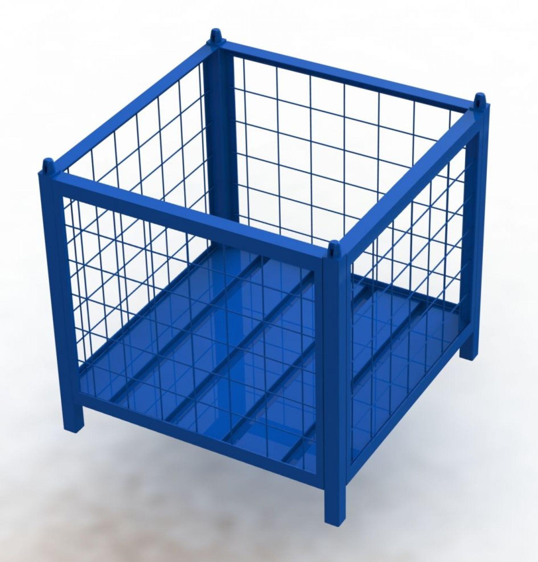 Gitterbehälter für Monitoreinsatz