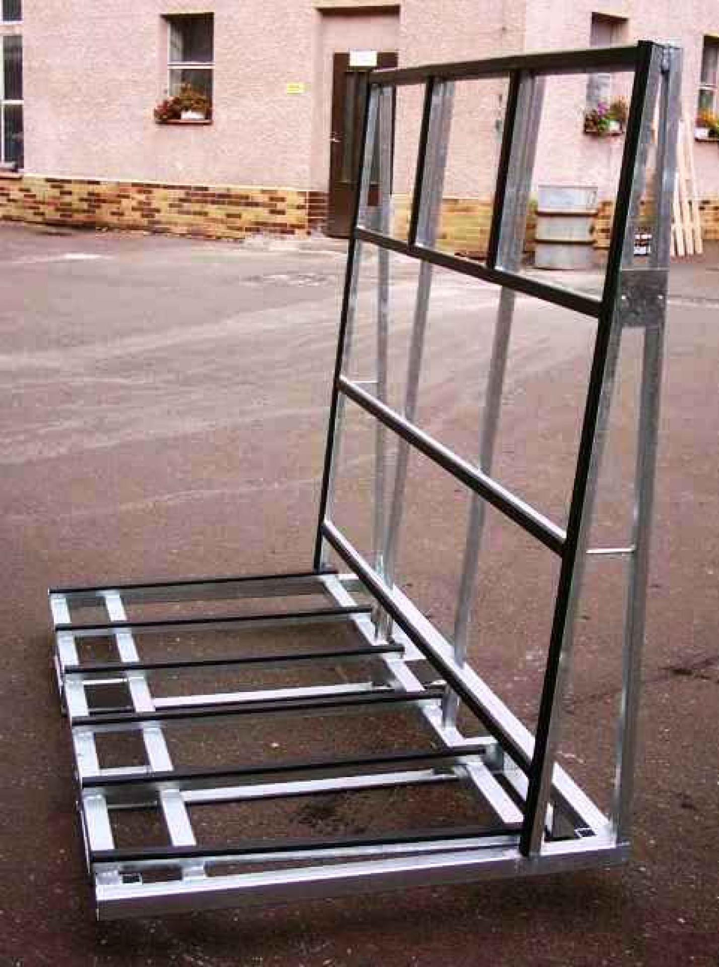 Glastransportgestell Fensterbock mit Gummiprofilleiste