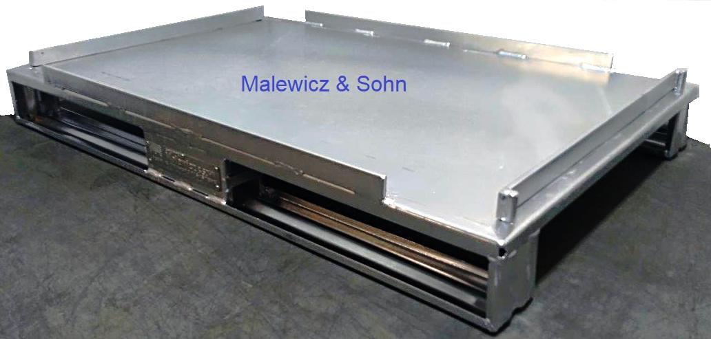 Stahlpalette mit Flacheisen kurze Seite steckbar
