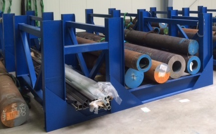 Lagergestell mit Ablage für 20 Tonnen