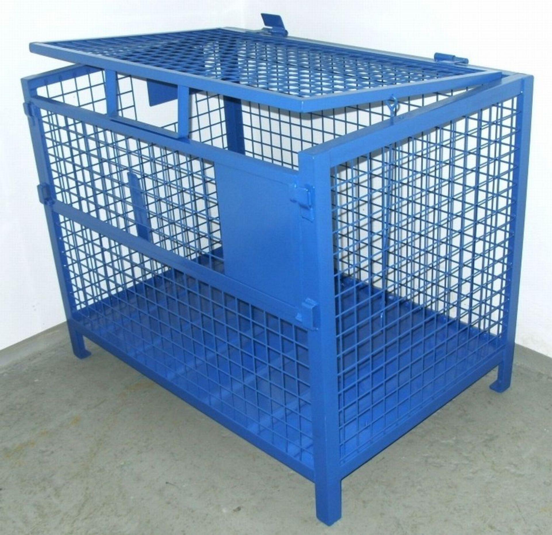 Gitterbehälter abschließbar für mobile Geräte