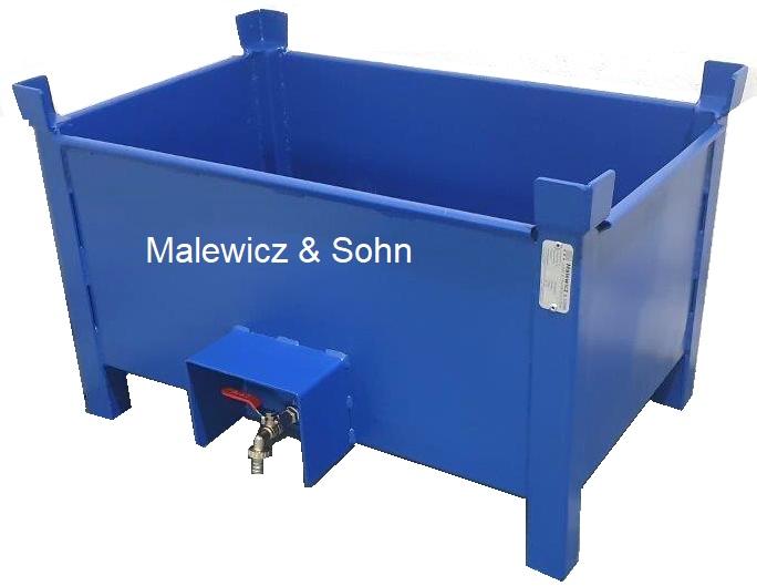 Blechbehälter mit Ablasshahn